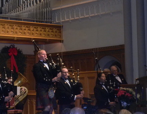 Members of the Clan Currie Society performing