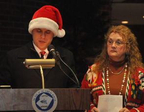 Town Manager Thomas S. Russo, Jr., and Mayor Sandra Diglio.