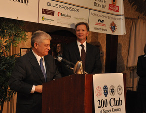 Allen Langjahr, Chairman of the Board and President of The 200 Club of Sussex County, with Andrew Napolitano.