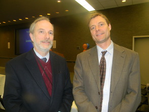 Doctors John Halperin and Thomas Agesen who spoke about shingles