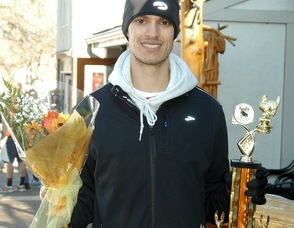 Gian-Paul Caccia, first place winner of the Turkey Trot 5K.