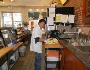 Roman preparing food