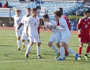 Millburn Soccer Cruises to Semis, Defeats Edison 7-0, photo 1