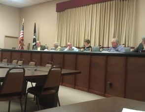 Members of the Vernon Township Council.