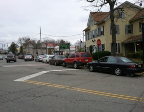Cars line up for gas along Spring Street for the Lukoil in Newton.