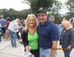 Councilwoman Patty Spango and Mayor Rob Parisi