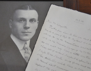 Harry Elkins Widener, and a copy of his letter about his trip on the Titanic, now part of the archives of Harvard University.
