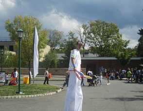Man on stilts