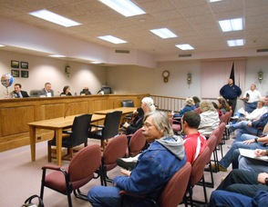 Andover Township meeting filled to capacity with residents and local police on October 22.