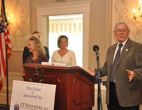 Michael Francis and Maria Galate receive the award for Hopatcong Borough.
