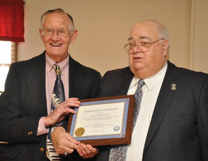 Dr. Richard W. Scott, with Franklin Borough Mayor Paul Crowley.