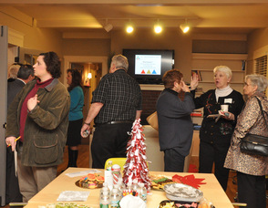 Guests mingle at the C3 Workplace event.