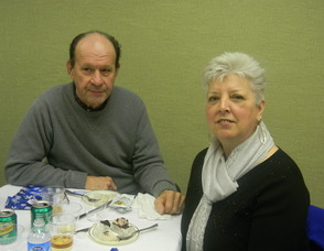 Pat Myer and her husband at the lunch