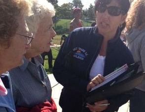 Casalino, Right, Speaks to Seniors