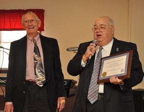 Mayor Paul Crowley with Dr. Richard Scott.