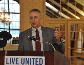 United Way Board Chair, Bruce Tomlinson.