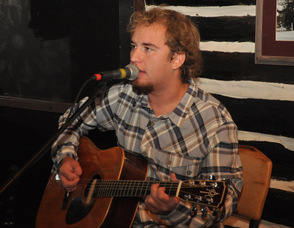Geoff Doubleday performing at the event.