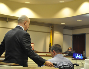 Sussex County First Assistant Prosecutor, Gregory Mueller, with Scott Harris.