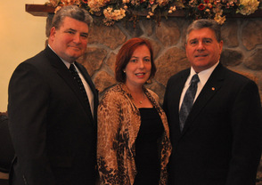 Gary Chiusano (right) with State Senator Steve Oroho, and Assemblywoman Alison Littell-McHose.