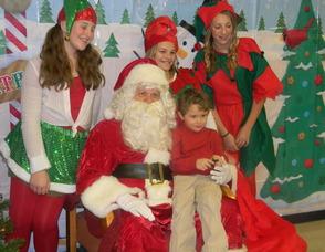 Michael Sennello with Santa
