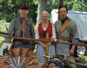 Douglas Pitchell, Sally Shutler, and Andy Drysdale of the New Jersey Frontier Guard.