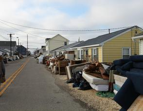 People's stuff in front of their houses  on Kathryn St., Lavallette