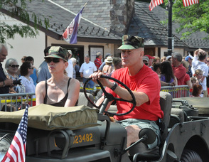 Members of the U.S. Marine Corps were part of the festivities.