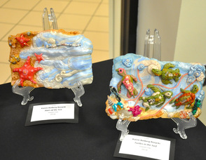Sea-inspired Polymer Clay Art by Karen Amberg Ruzycki.