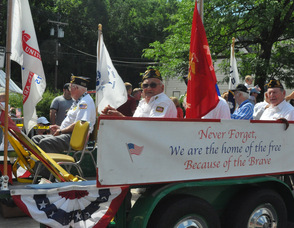 Members of the Sparta American Legion in the parade.