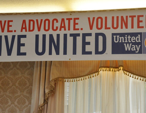 """Campaign sign for """"Live United""""."""