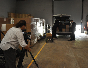 Filming at Extreme Energy Solutions.