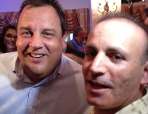 Bader Qarmout at the GOP Convention in Tampa, with New Jersey Governor, Chris Christie.