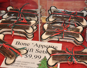 """Bone Appetite"" items from Maxwell & Molly's Closet Pet Boutique."