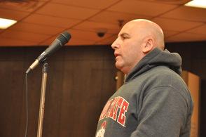 Anwar Qarmout addresses the council.
