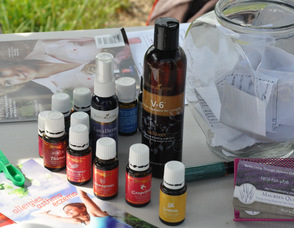 Essential Oils sold at the event.