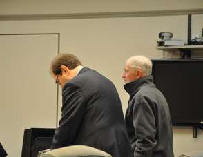 Michael Stabile with his attorney, Charles Lorber.