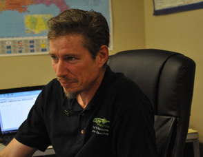 Mike Holler of Extreme Energy Solutions during the filming.