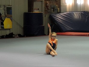 Ciara Peselli-Hauser of Newton finishes her floor routine, which earned her a 4th place award.