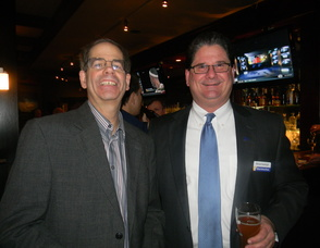Jeffrey Burnett with Chamber President Michael Goodnight