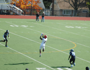 Columbia wide receiver Emmanuel Grant making a leaping catch