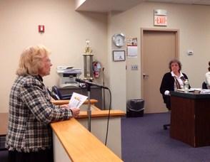 Katherine Little Addresses the Council