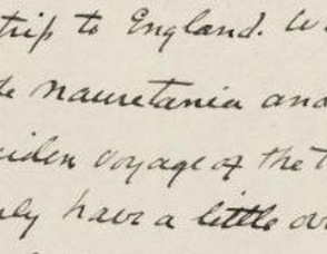 Excerpt from a March 1912 letter written by the author's cousin, Harry Elkins Widener, to his friend, about sailing home from Europe on the maiden voyage of the Titanic.