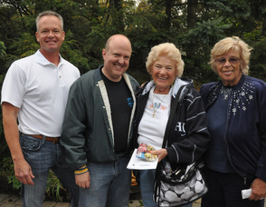 From left to right: Bob White, Brian McNeilly, Betty Harris, and Marijane Brandan.