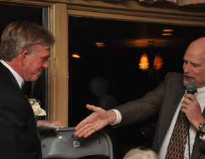 Robert B. Nicholson III, literally receives the chair position from 2012 outgoing chair, Tom Tate.