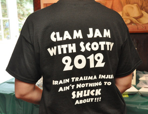 The back of one of the t-shirts at for the event.