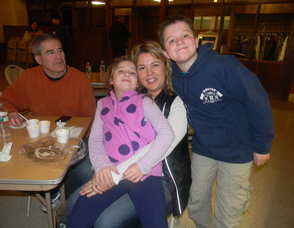 Anita Bamford and her son Jack and daughter Alex