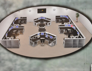 A detailed rendition of the proposed 911 center.