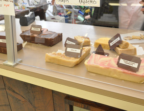 Various flavors of Grammy's fudge.