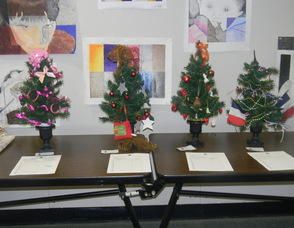 The Christmas trees up for silent auction