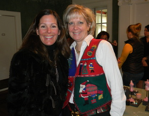 Fortnightly Club President Terry Andrews with board member Lori Dahl